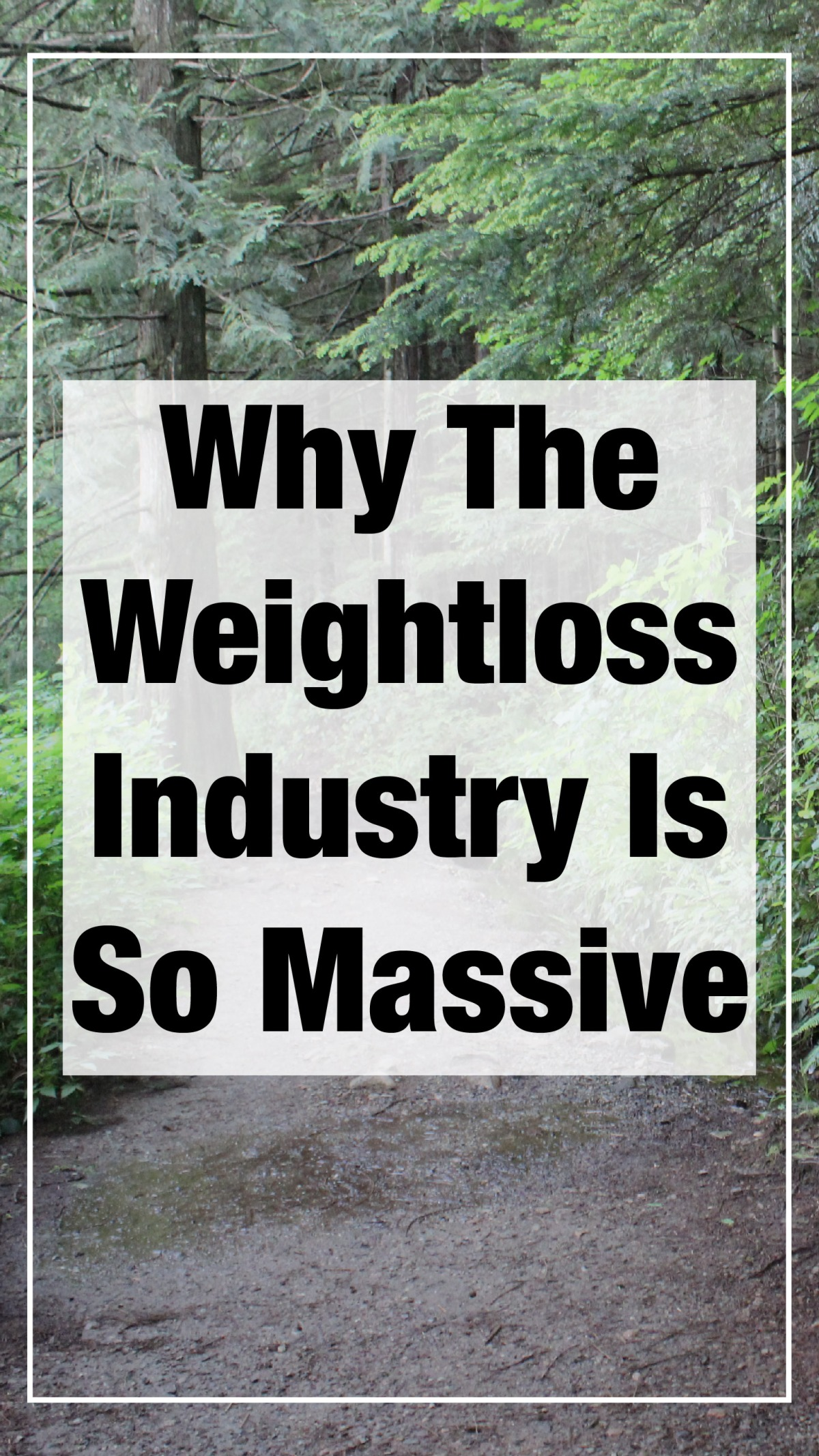 Why Weight Loss Is Such A Massive Industry